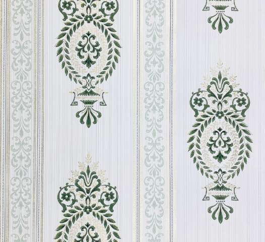 Baroque Wallpaper Green and Gold