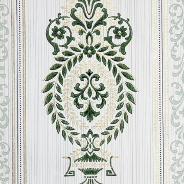 Baroque Wallpaper Green and Gold 4