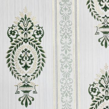 Baroque Wallpaper Green and Gold 5