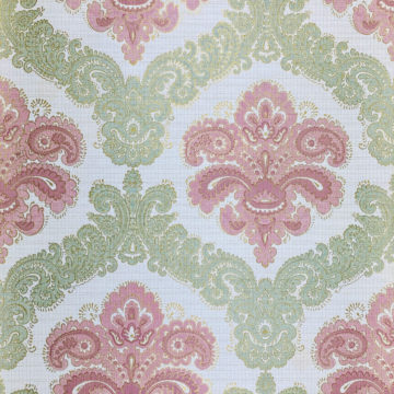 Baroque Wallpaper Green and Pink 1