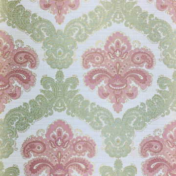 Baroque Wallpaper Green and Pink