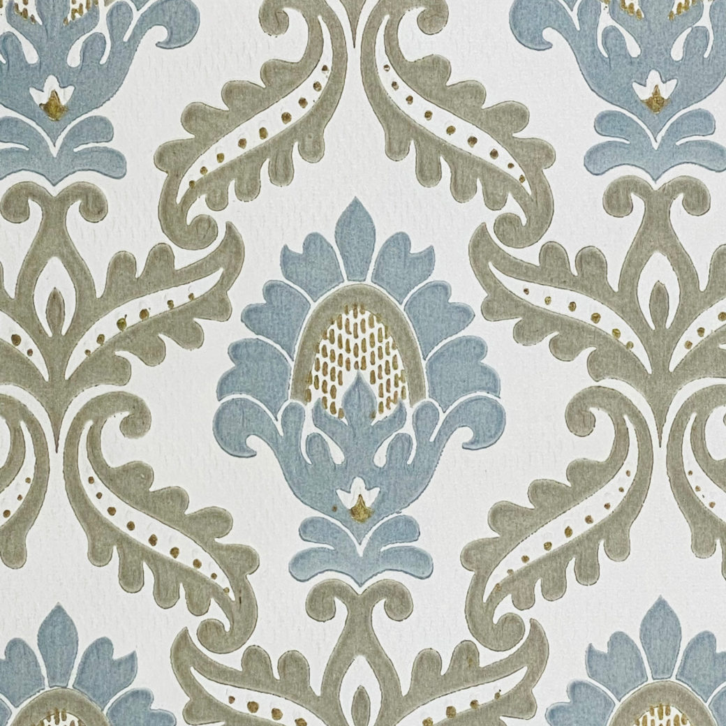 Blue and Grey Baroque Wallpaper 6