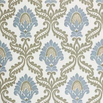 Blue and Grey Baroque Wallpaper 4