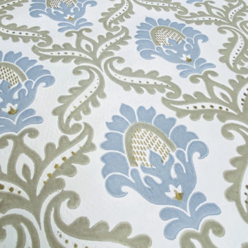 Blue and Grey Baroque Wallpaper 7