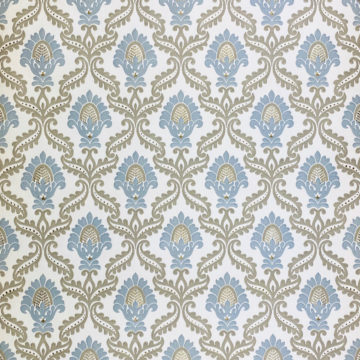 Blue and Grey Baroque Wallpaper