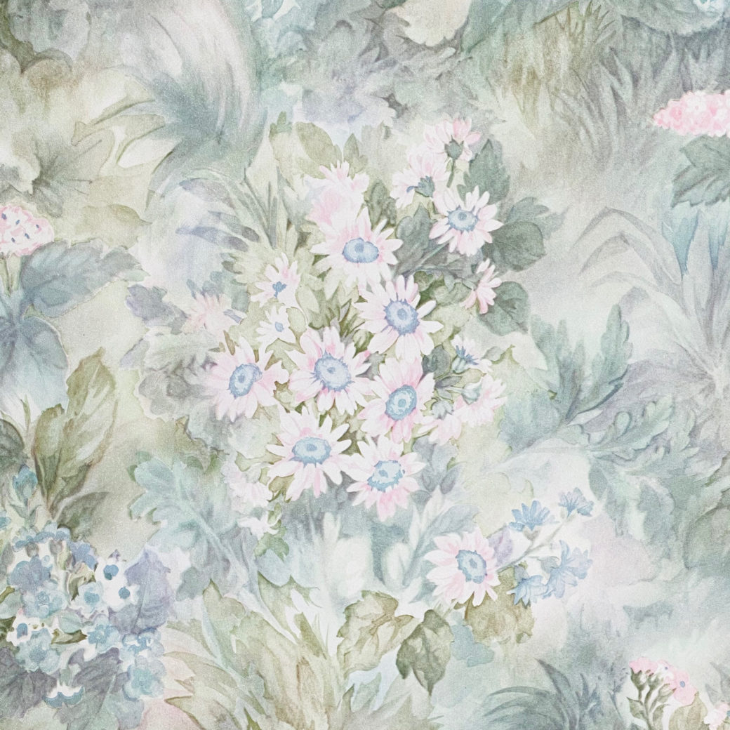 Blue and Pink Floral Wallpaper 2