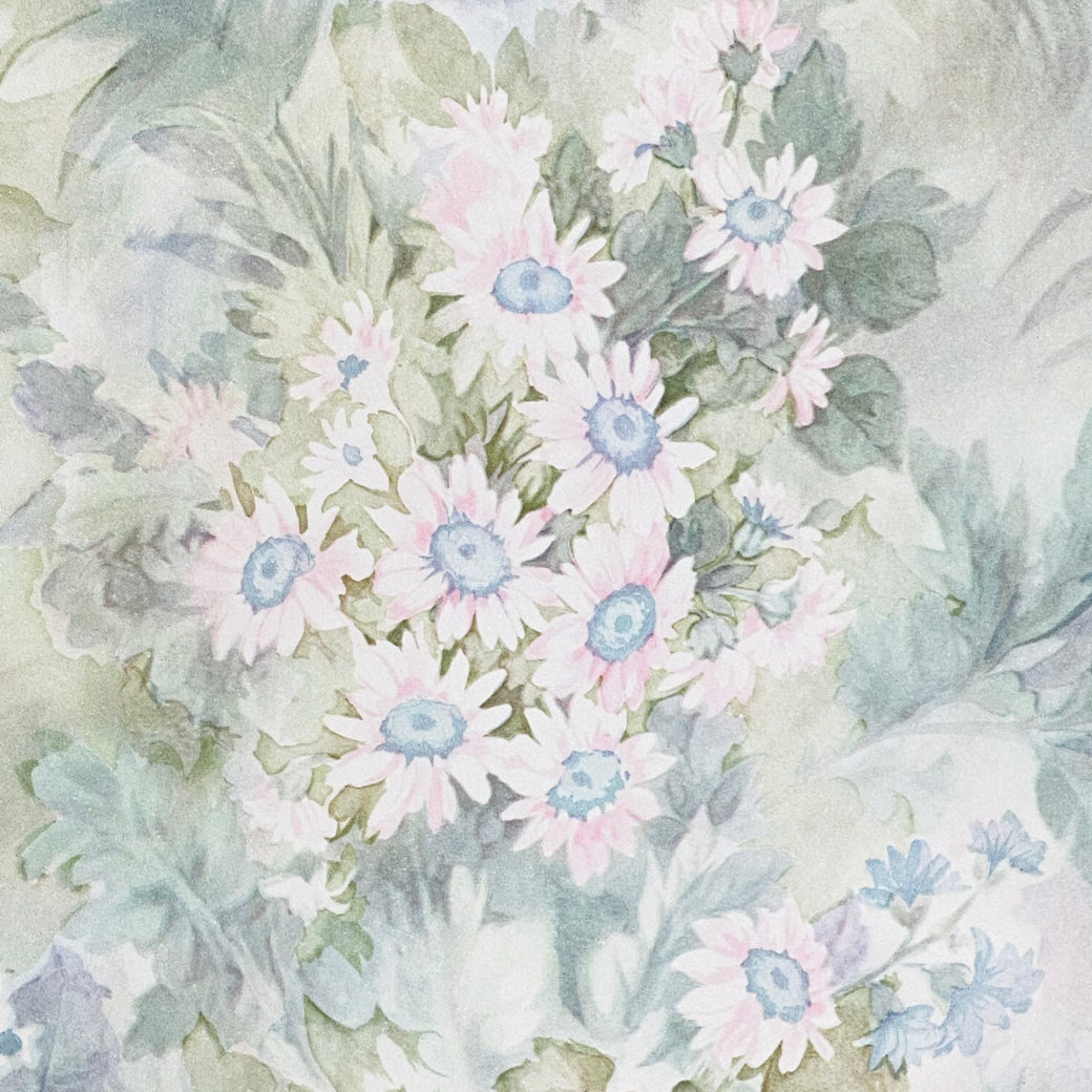 Blue and Pink Floral Wallpaper 3