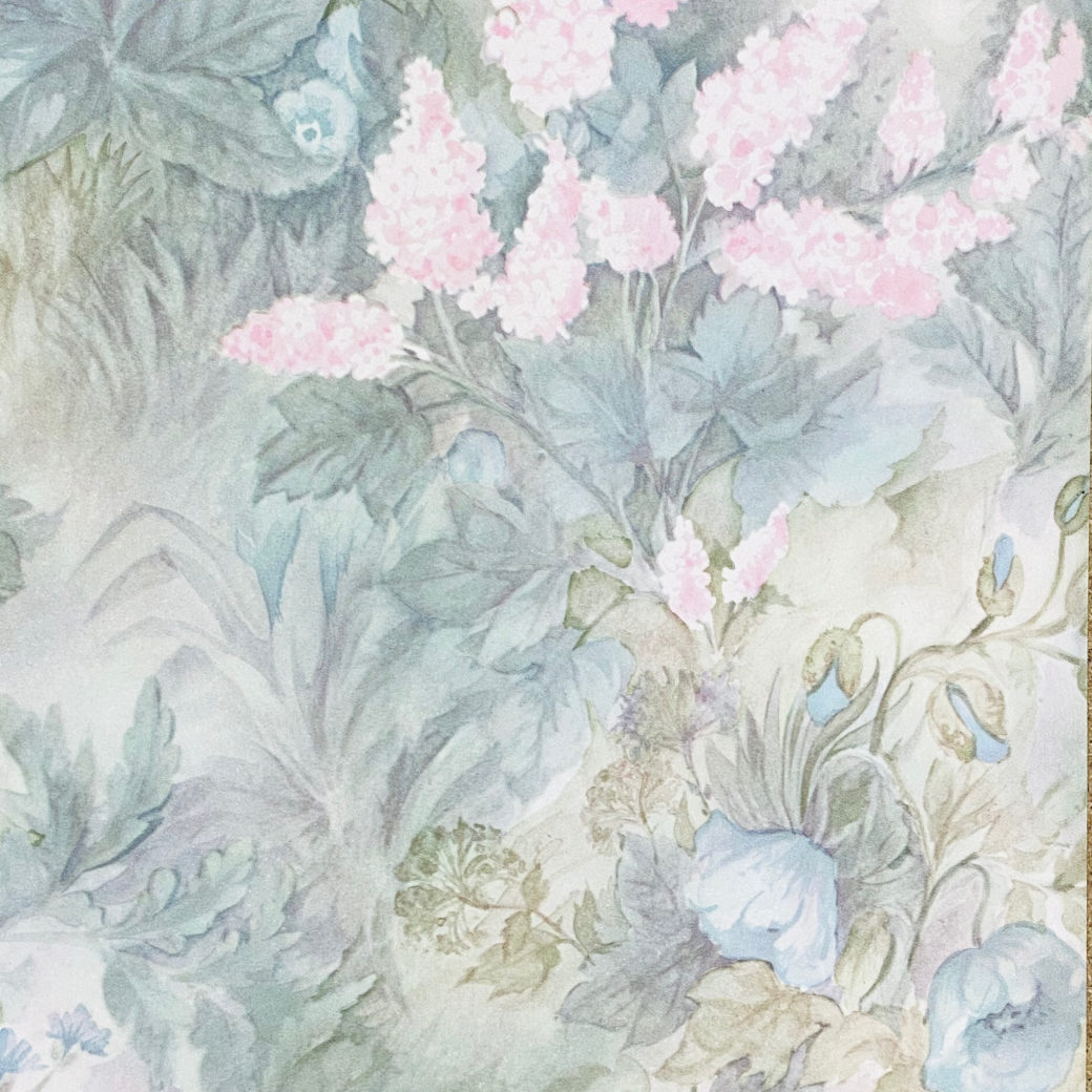Blue and Pink Floral Wallpaper 4