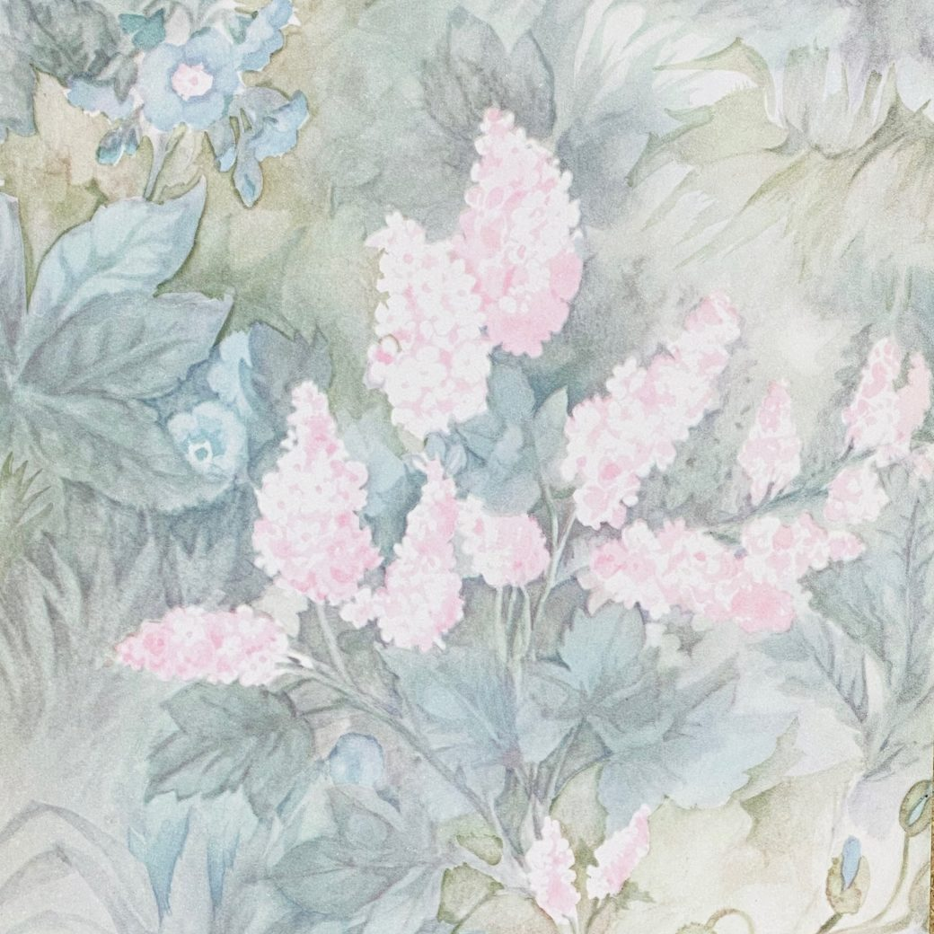 Blue and Pink Floral Wallpaper 5