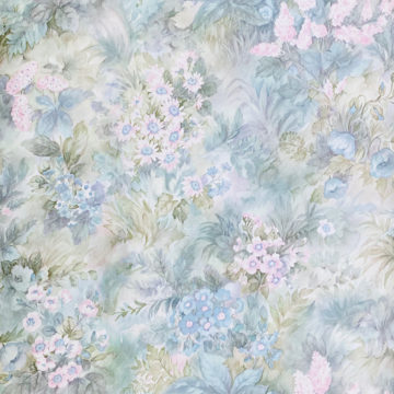 Blue and Pink Floral Wallpaper