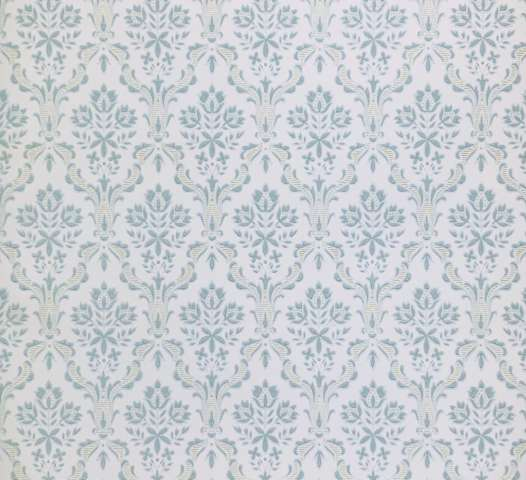 Blue baroque wallpaper