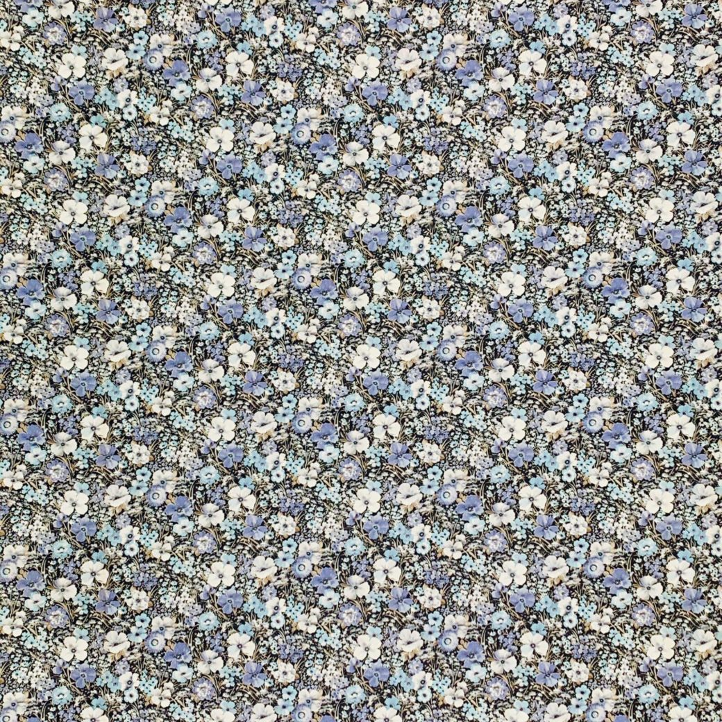 Blue floral wallpaper 2