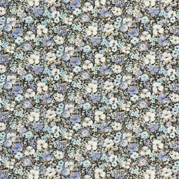 Blue floral wallpaper 1