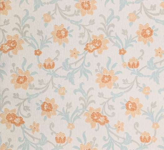 Vintage blue floral wallpaper 4