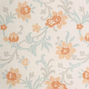 Vintage blue floral wallpaper 3 1
