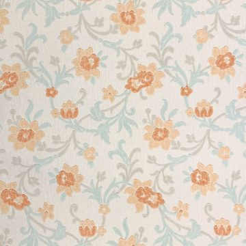 Vintage blue floral wallpaper 1 1