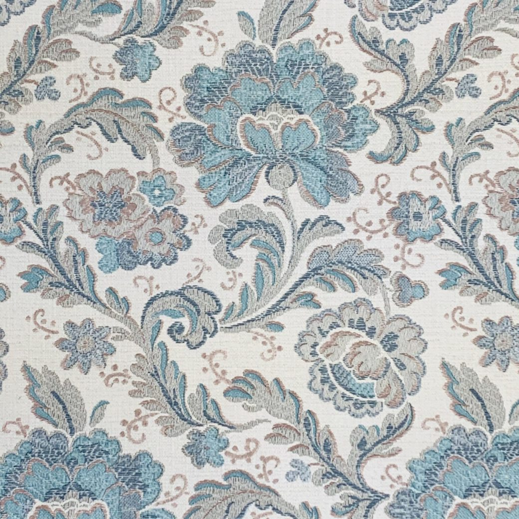 Blue paisley wallpaper 3