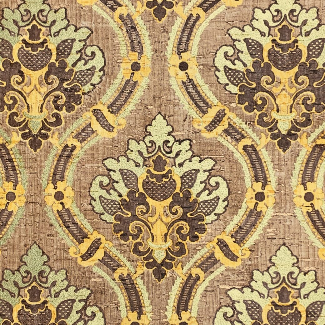 Brown and gold damask wallpaper 2
