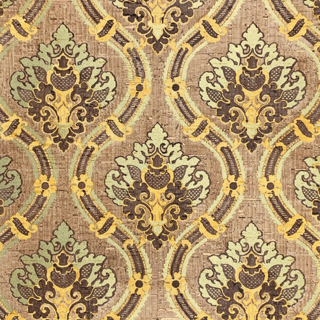 Brown and gold damask wallpaper 1