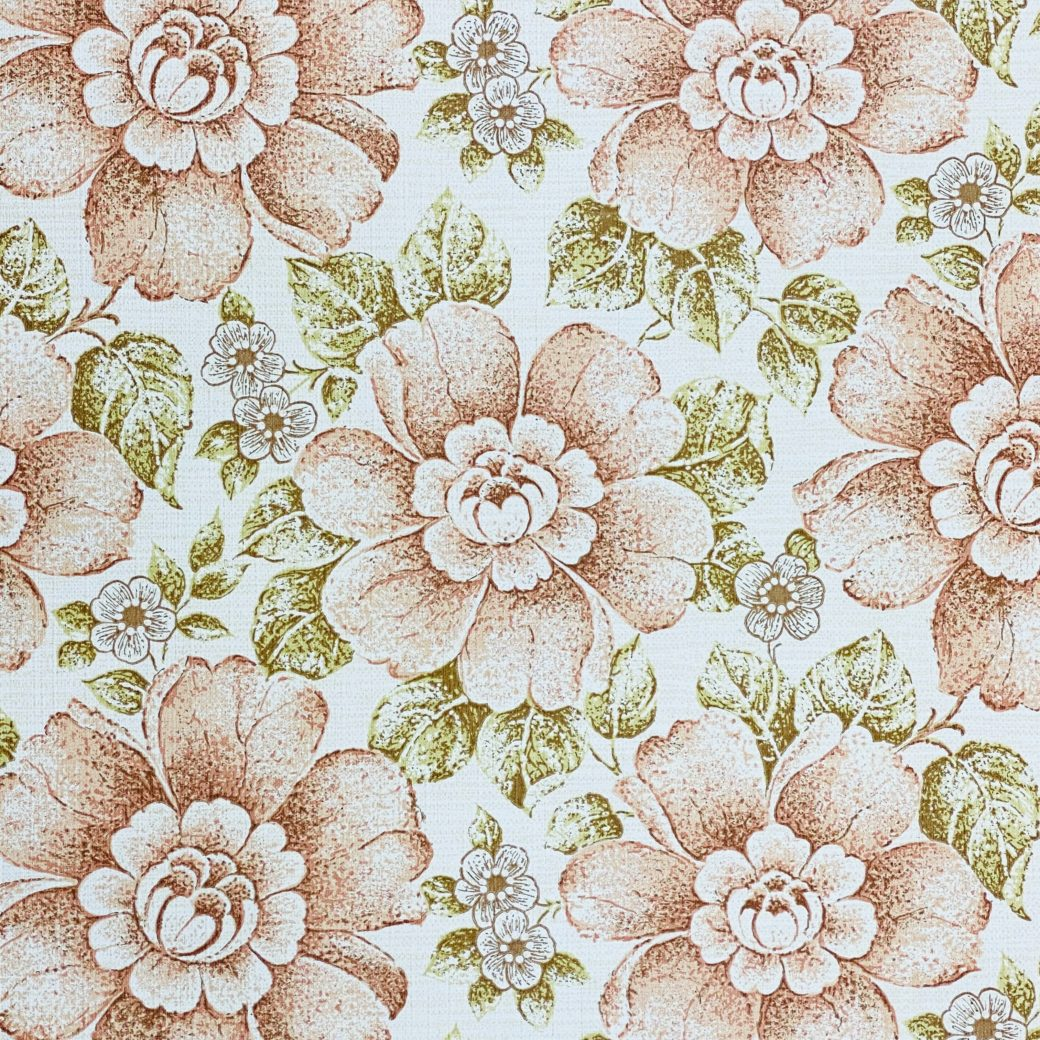 Brown and Green Floral Wallpaper 5