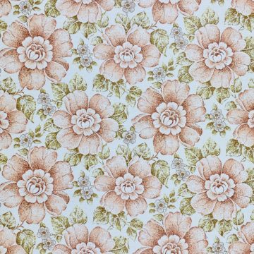 Brown and Green Floral Wallpaper 1