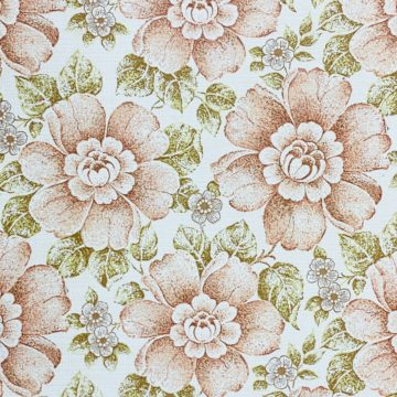 Brown and Green Floral Wallpaper 4