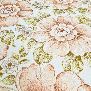 Brown and Green Floral Wallpaper 6