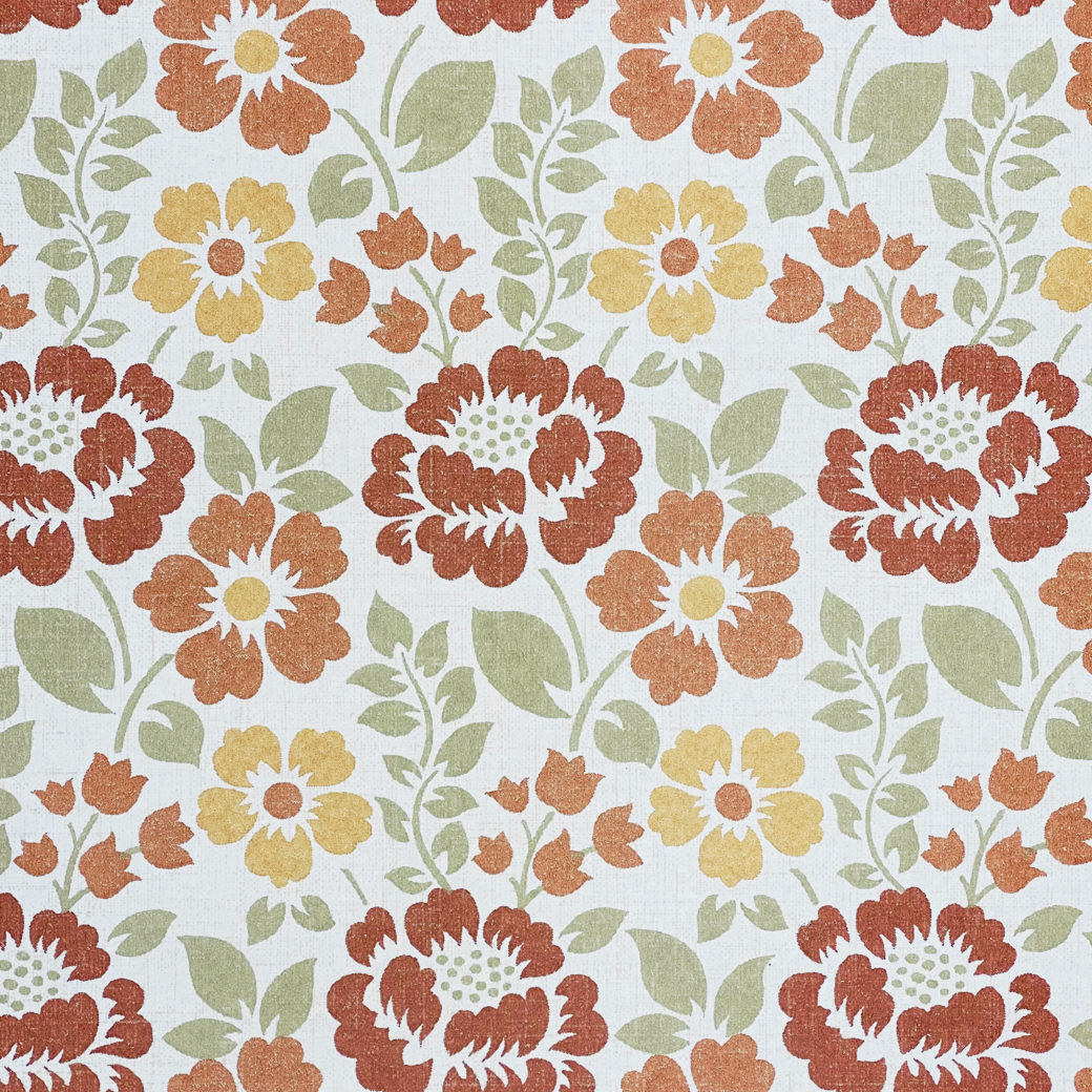 Brown and Green Floral Wallpaper 3