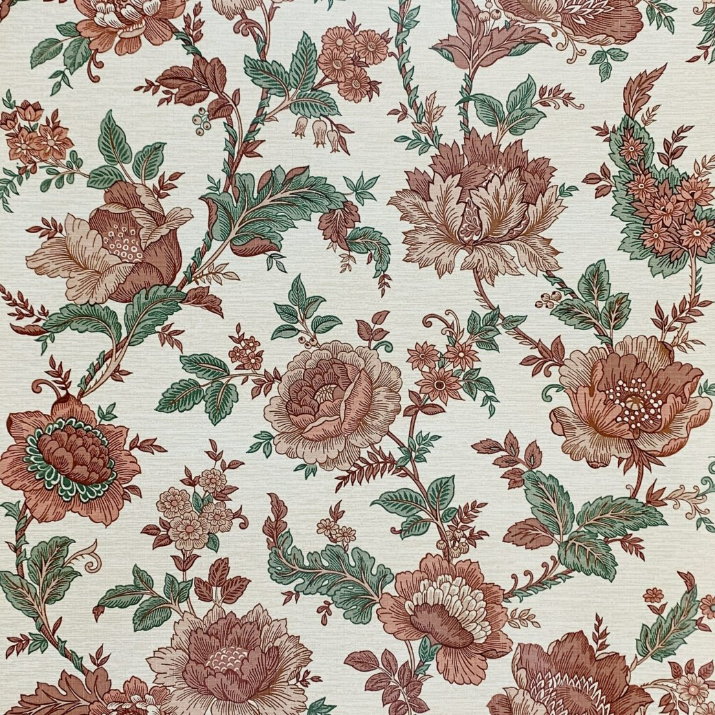 Brown and Green Floral Wallpaper