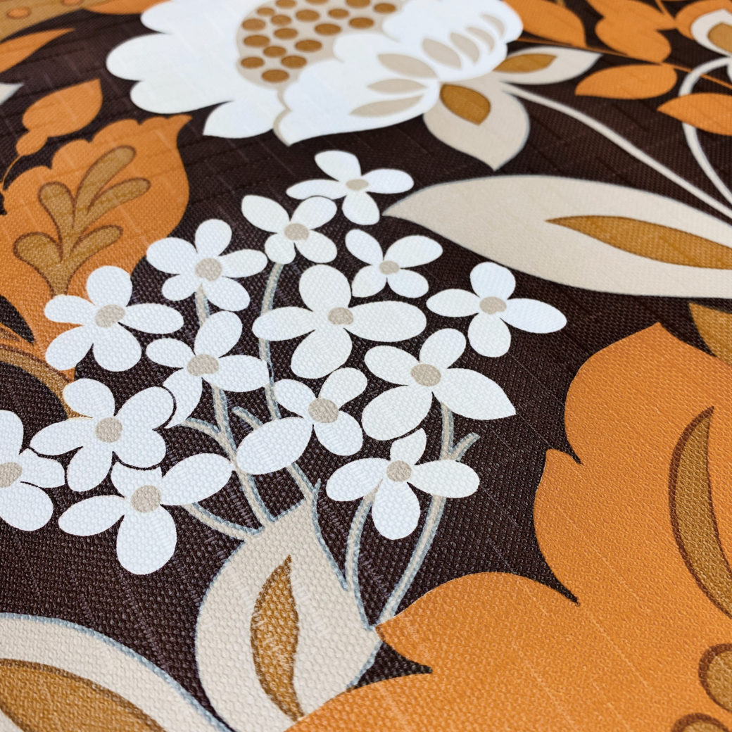 Brown and Orange Floral Wallpaper 8