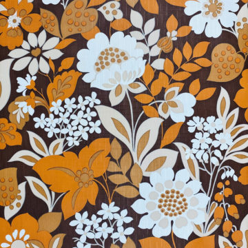 Brown and Orange Floral Wallpaper 1