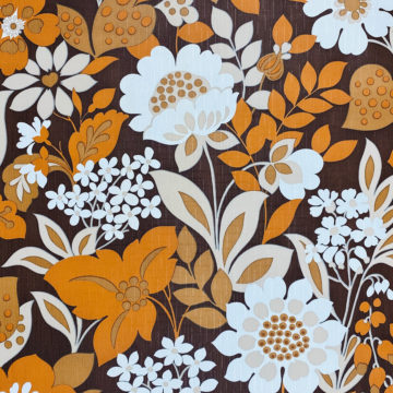 Brown and Orange Floral Wallpaper 2