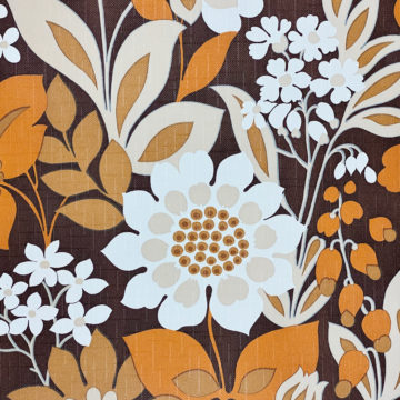 Brown and Orange Floral Wallpaper 6