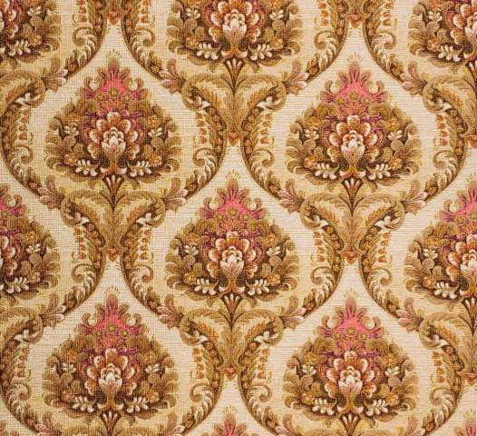 Brown and pink baroque wallpaper 2