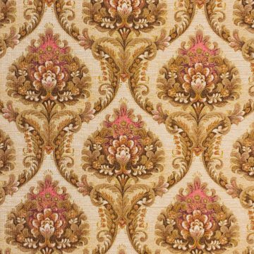 Brown and pink baroque wallpaper 1