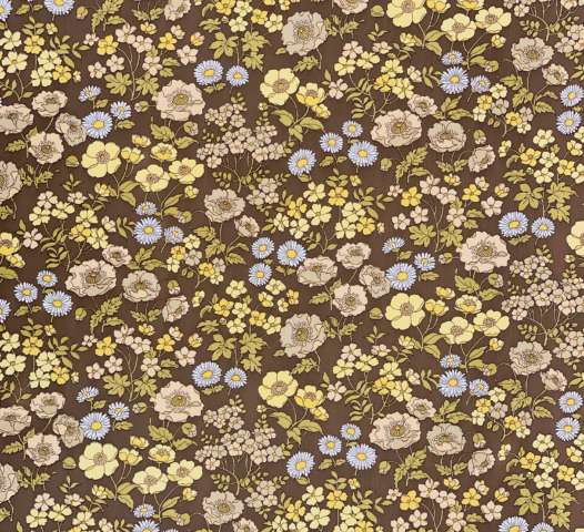 Vintage Brown Floral Wallpaper 8