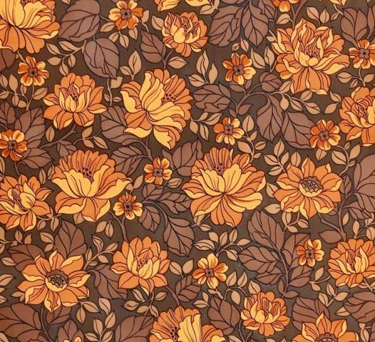 Brown floral wallpaper 11