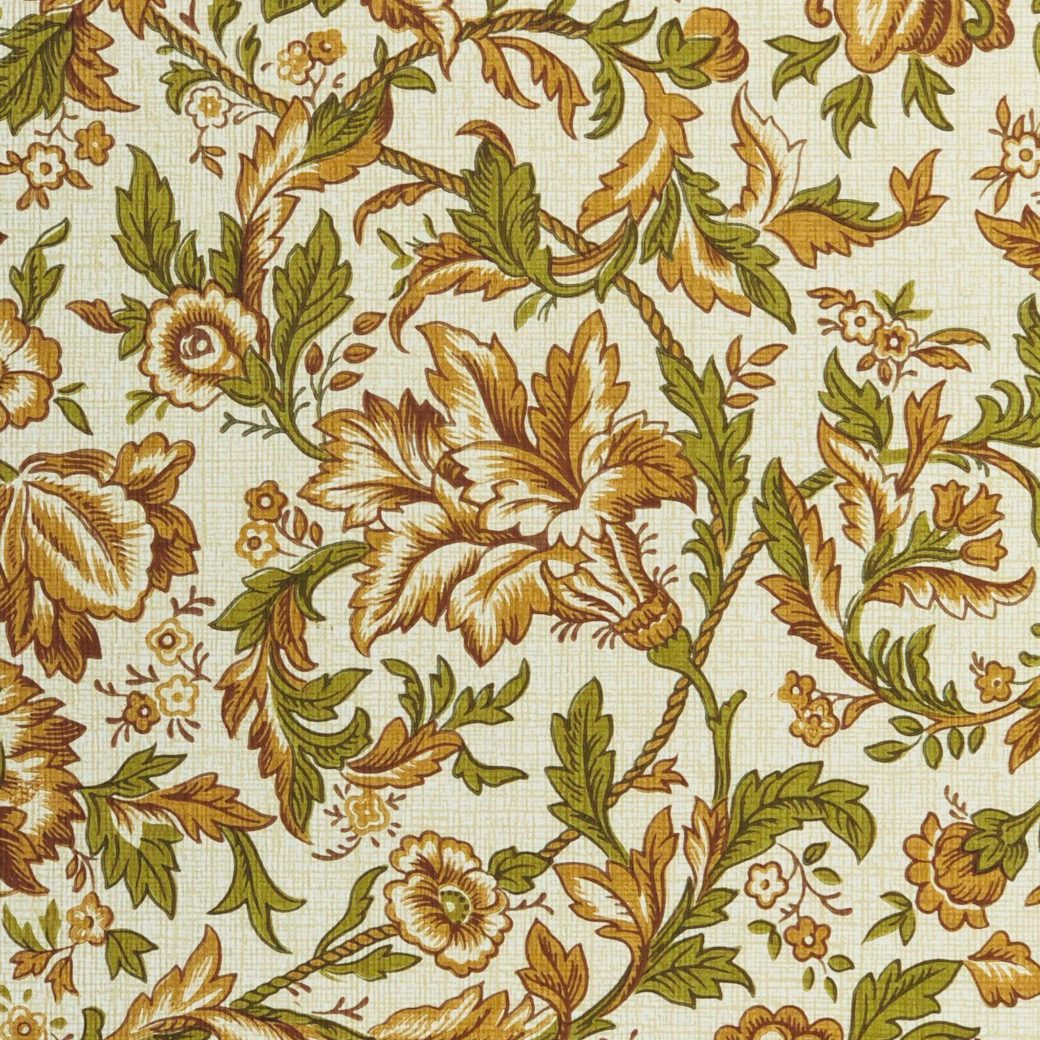 Brown floral wallpaper 3
