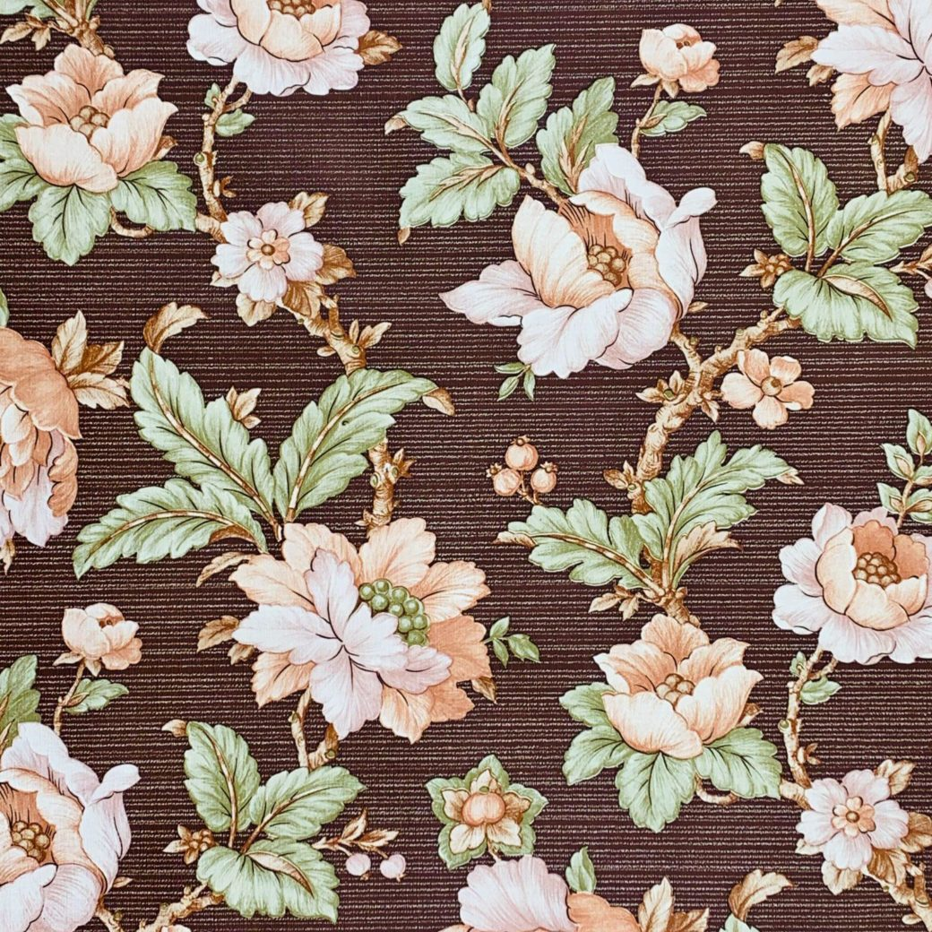 Brown floral wallpaper 2