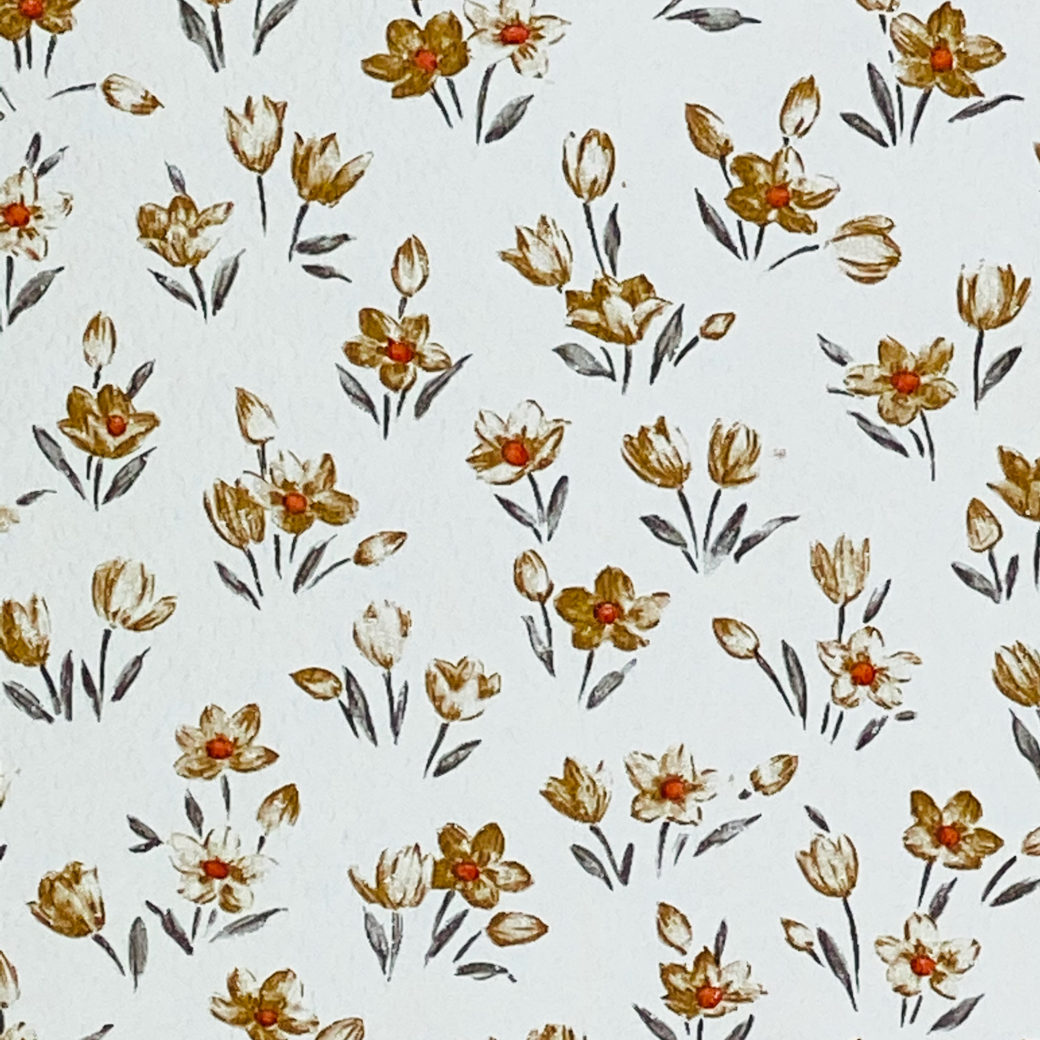 Brown Floral Wallpaper Small Pattern 5