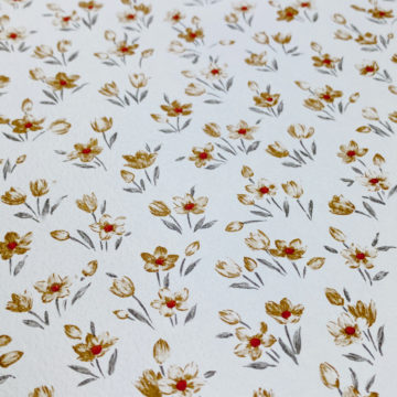 Brown Floral Wallpaper Small Pattern 6
