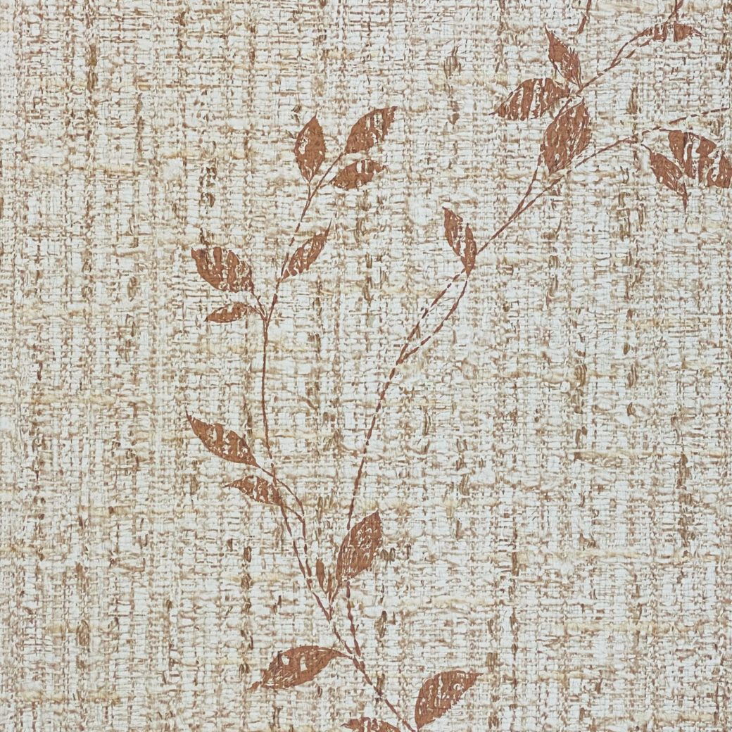 Brown Floral Wallpaper With Leaf Pattern 7