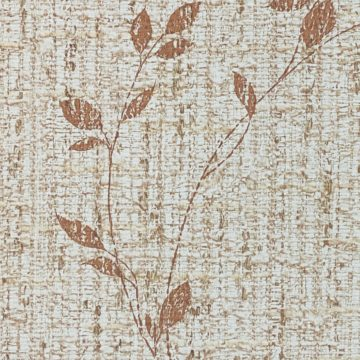Brown Floral Wallpaper With Leaf Pattern 8