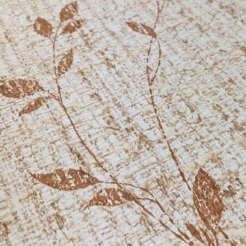 Brown Floral Wallpaper With Leaf Pattern 9