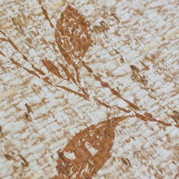 Brown Floral Wallpaper With Leaf Pattern 10
