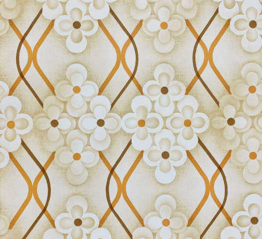 Brown Retro Geometric Flower Wallpaper