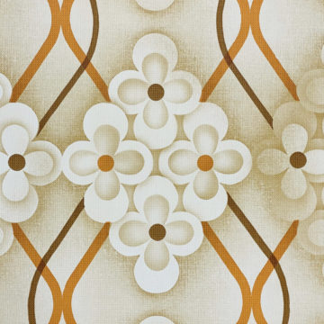Brown Retro Geometric Flower Wallpaper 5