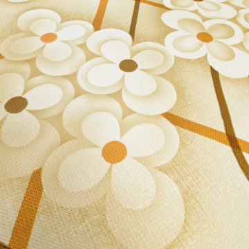 Brown Retro Geometric Flower Wallpaper 7
