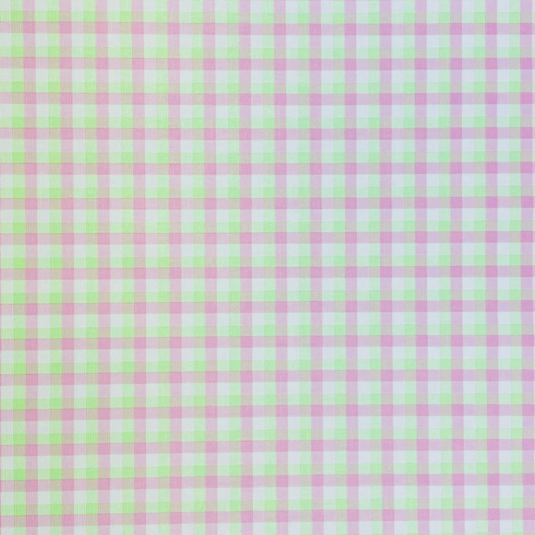 Checkered Wallpaper Fluo Green and Pink 3