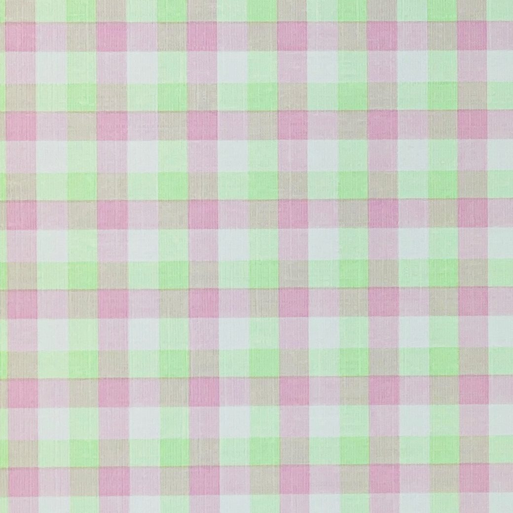 Checkered Wallpaper Fluo Green and Pink 7